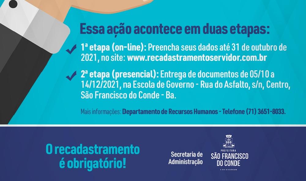 Prefeitura realiza o recadastramento dos servidores municipais