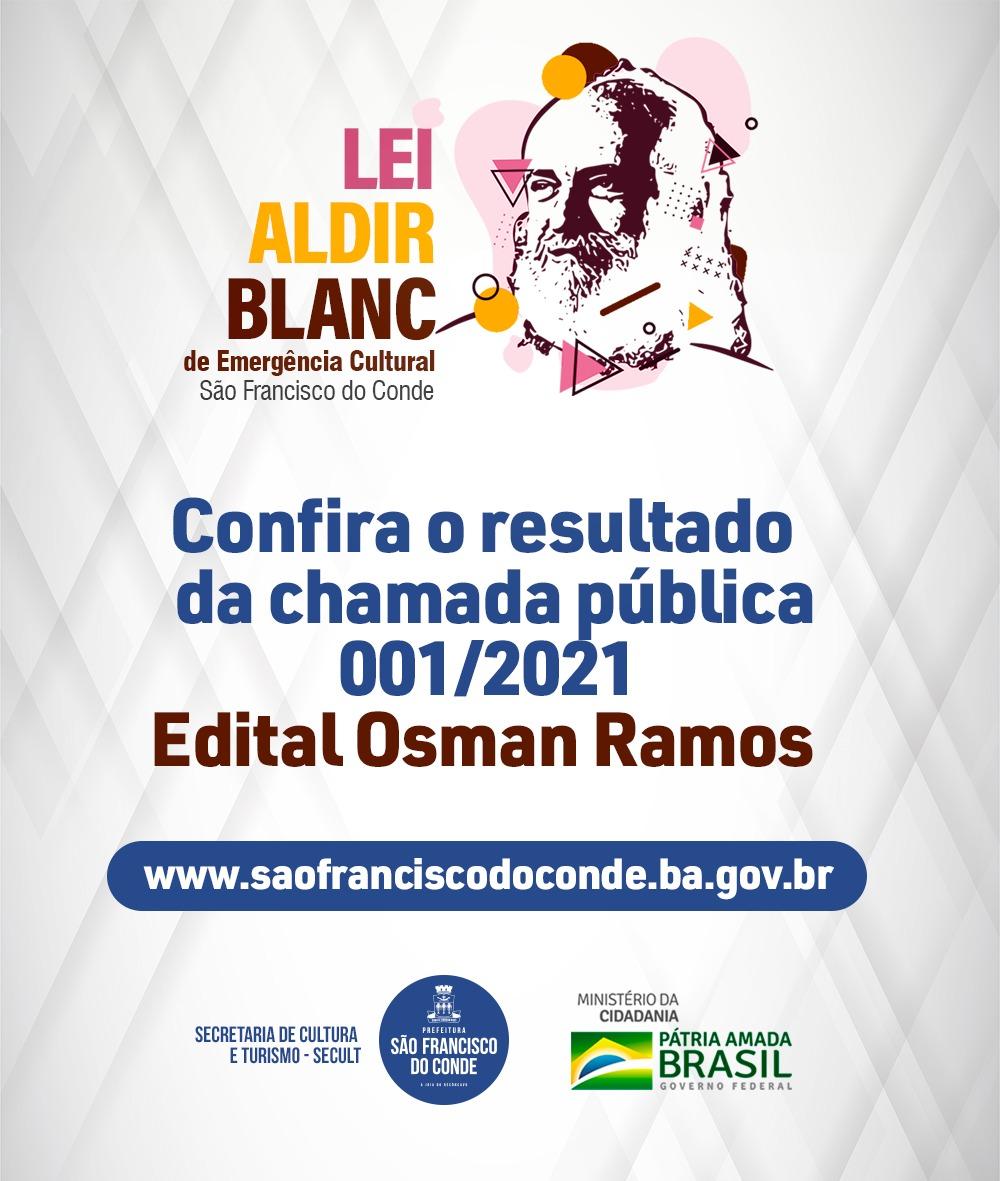 Prefeitura divulga lista de aprovados do Edital Osman Ramos